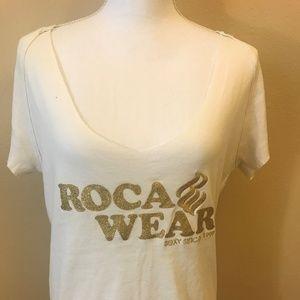 Rocawear Plus Size Short Sleeve Screen Top